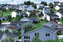 Picture of a suburban neighborhood