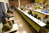Picture of individuals participating in a lecture
