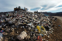 Picture of garbage in a landfill